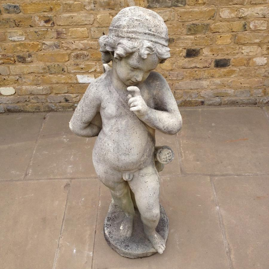 Reclaimed Stone Statue Of Cupid