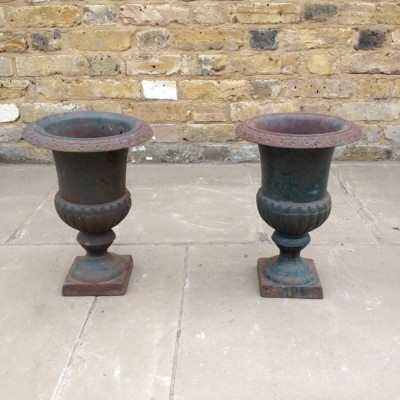 Pair of Reclaimed Iron Planters