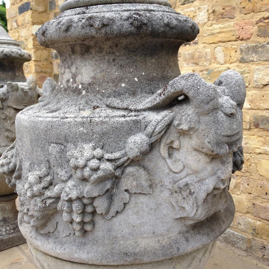 A Stunning Pair Of Reclaimed Stone Urns