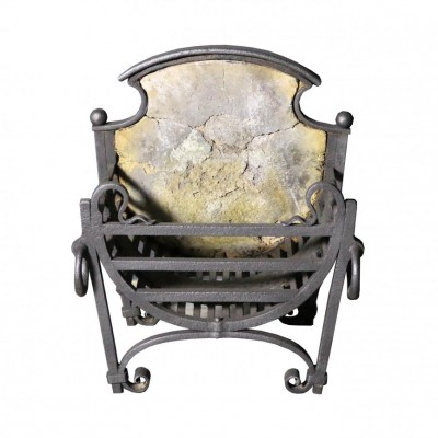 A wrought iron fire grate C. 1900
