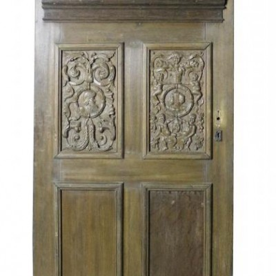 A 19th Century carved oak door