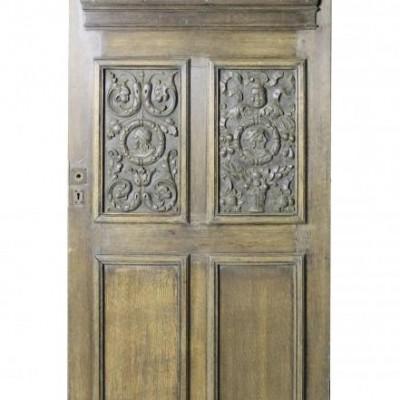 A 19th Century carved oak door