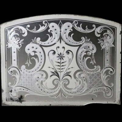 An etched and bevel cut mirror C. 1900