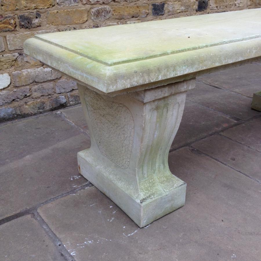 Reclaimed Stone Bench