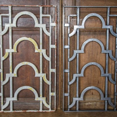 A Quantity Of Art Deco Cast Iron Grills