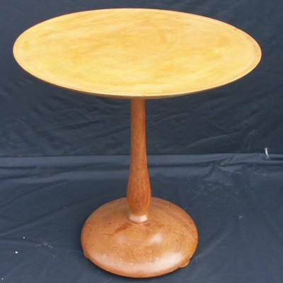 Circular wooden occasional table