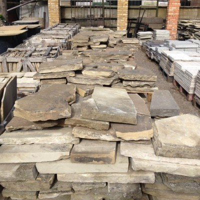 Large Quantity Of Reclaimed Yorkstone Crazy Paving