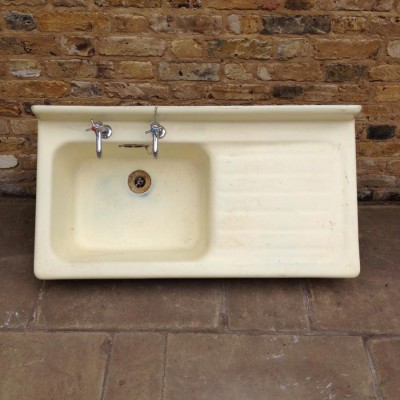 Reclaimed Yellow Cast Iron Sink