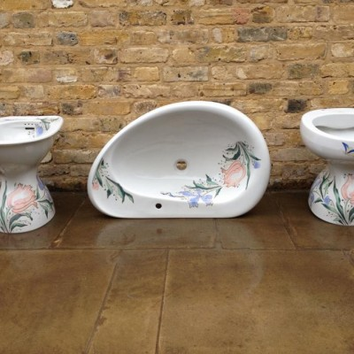 A Stunning Reclaimed Lavenite Bathroom Set
