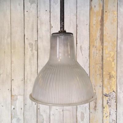 Reclaimed Vintage Holophane Pendant Light