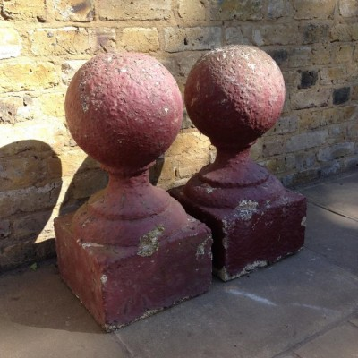 A Pair Of Reconstituted Stone Pier Caps