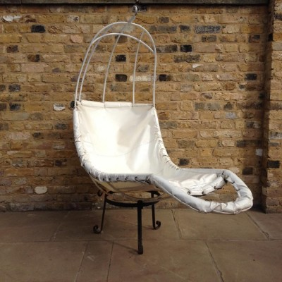 Reclaimed White Hanging Chair