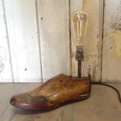 Vintage Cobbler's Shoe Last Lamp