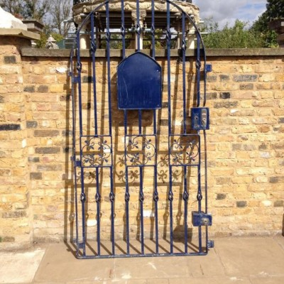 Reclaimed Blue Iron Gate