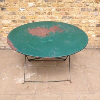 Reclaimed Green Garden Table