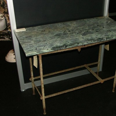 antique iron and marble table