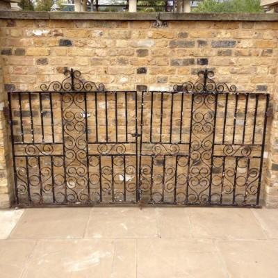 A Stunning Pair Of Iron Gates