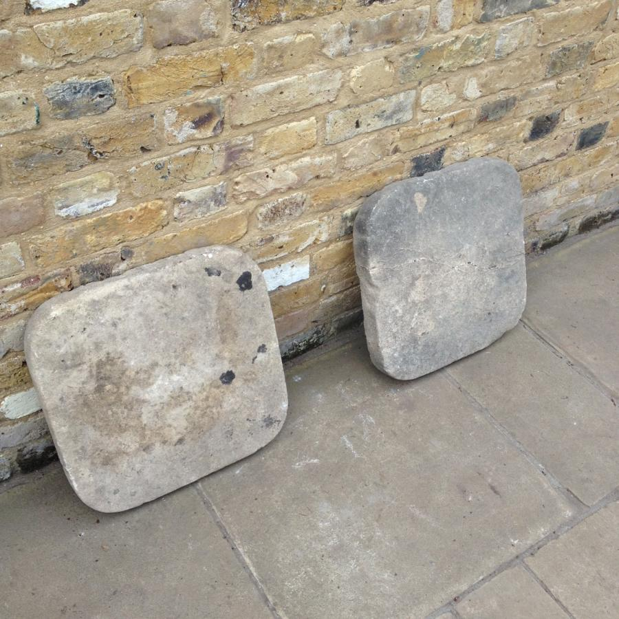 A Pair Of Stone Pier Caps
