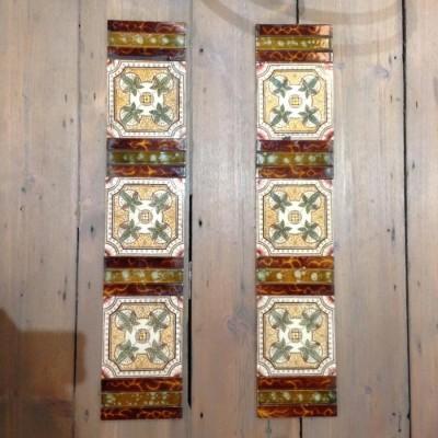Set of Antique Fireplace Tiles