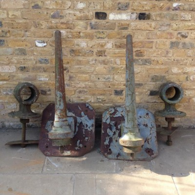 A Pair Of Flag Pole Holders