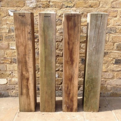 A Set of Four Oak Bollards