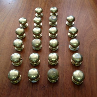 Reclaimed Brass Door Handles