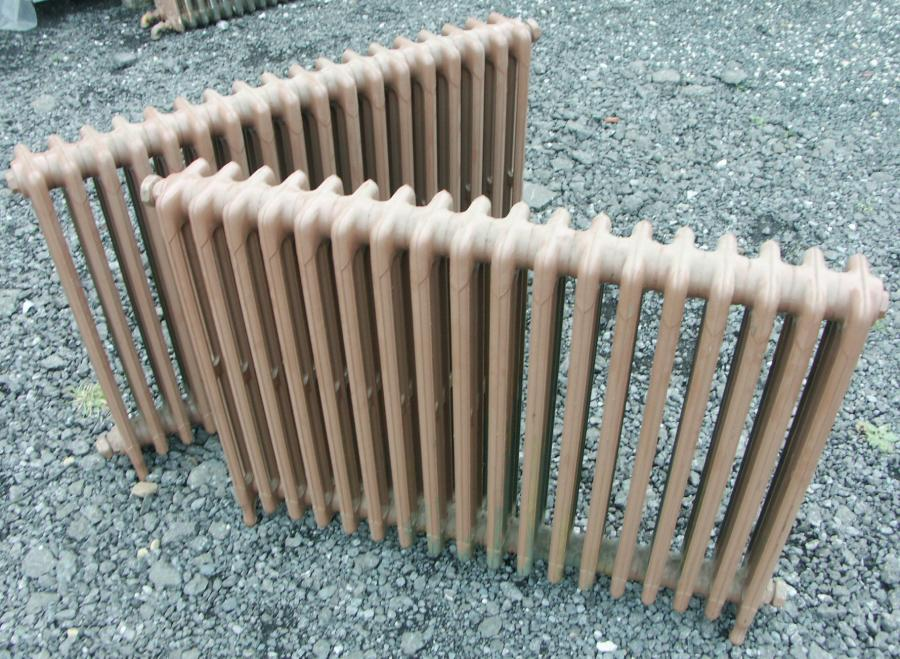 antique 4 column  cast iron radiators