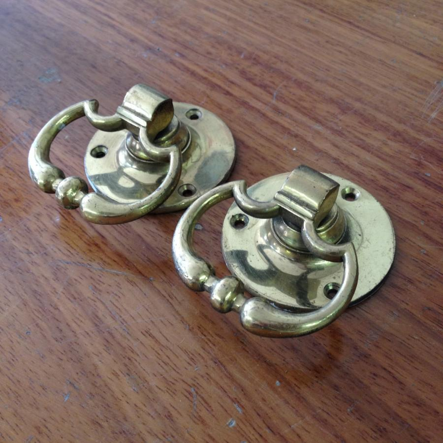 Reclaimed Georgian Style Brass Drop Handles