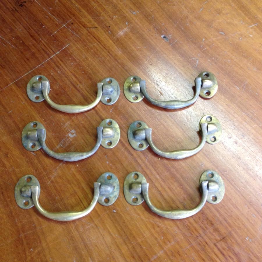 Reclaimed Brass Drop Handles