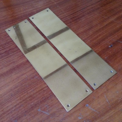 Reclaimed Brass Finger Plates