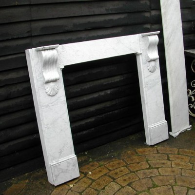 Original victorian marble fireplace