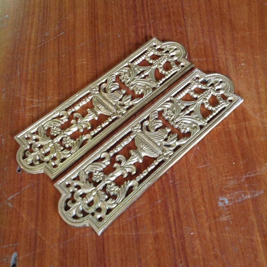 Ornate Brass Fingerplates