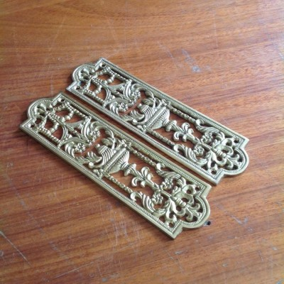 Ornate Brass Fingerplates