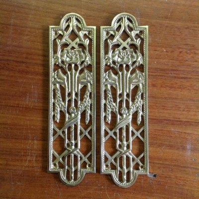 Primrose Design Brass Fingerplates
