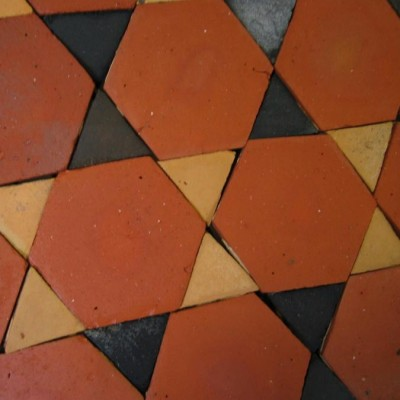 carreaux hexagones & navettes - terracotta hexagons & diamonds