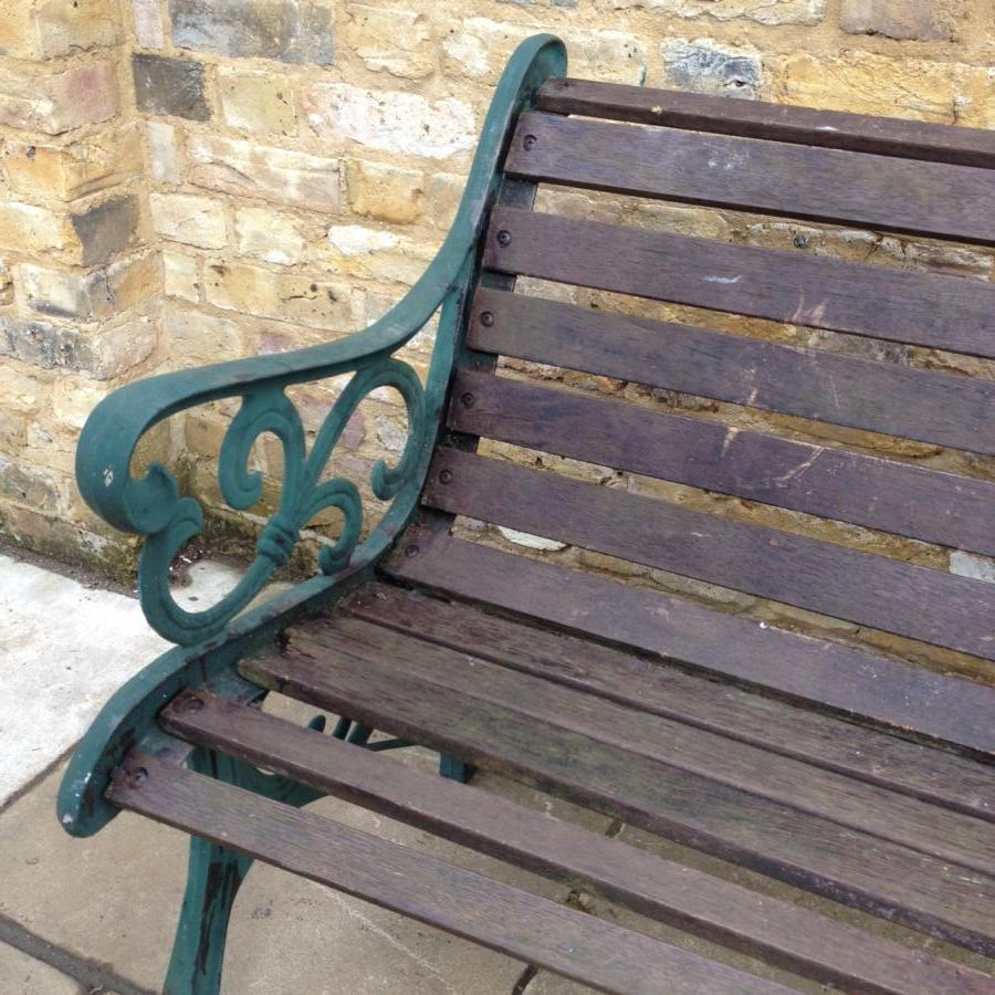 A Reclaimed Garden Bench