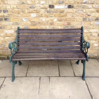 A Reclaimed Garden Bench