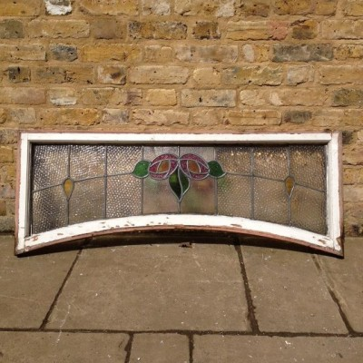 Reclaimed Leaded Arched Window