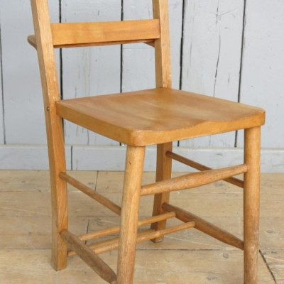Antique Church Chairs with Book Holders - Hawick Scotish Borders