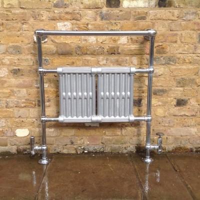 Reclaimed Chrome Heated Towel Rail