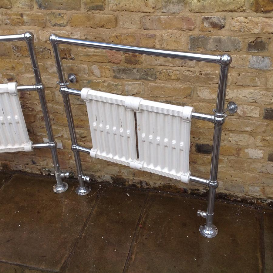 A Pair Of Heate Chrome Towel Rails
