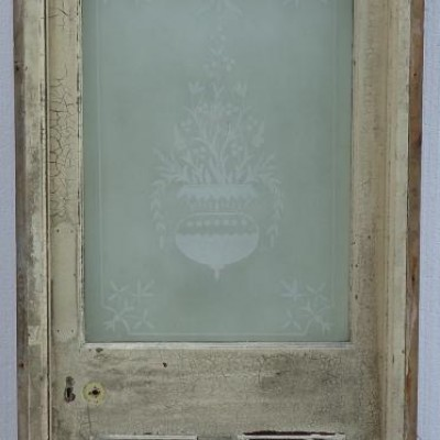 Etched glass front door