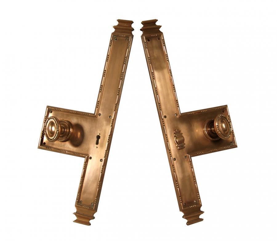 Pair of 19th century copper finger plates