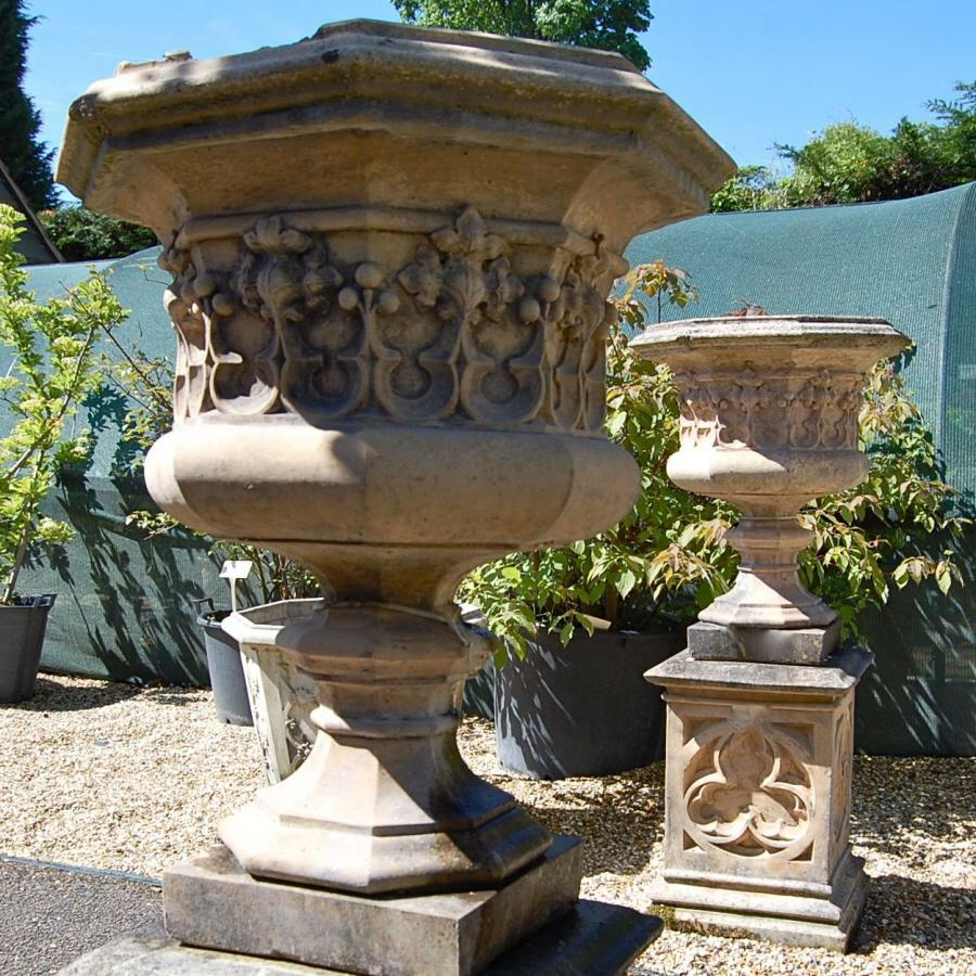 Gothic Style Octagonal Urns