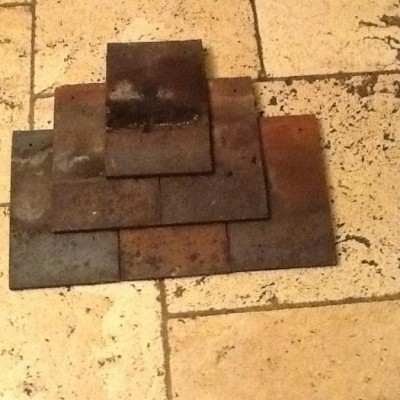 "Reclaimed Dreadnought 10"" x 6"" clay tiles"