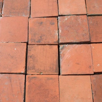 "Reclaimed Quarry Floor Tiles - 6"" x 6"""