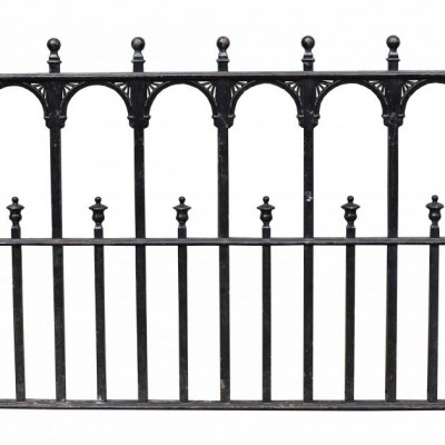 A section of antique cast iron railing