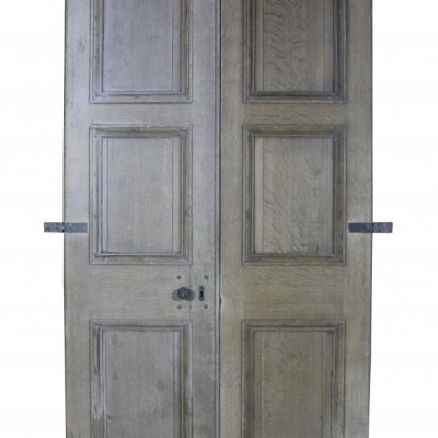 A pair of large early 19th century oak double doors