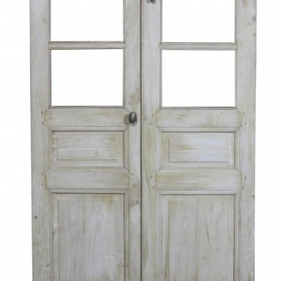A pair of antique French sycamore closet doors