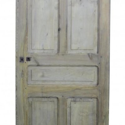 A French stripped pine internal door